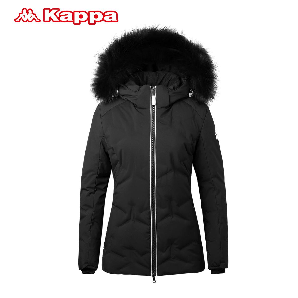 Kappa卡帕女加厚羽绒服 运动休闲保暖外套2017秋冬新款|K0762YY35