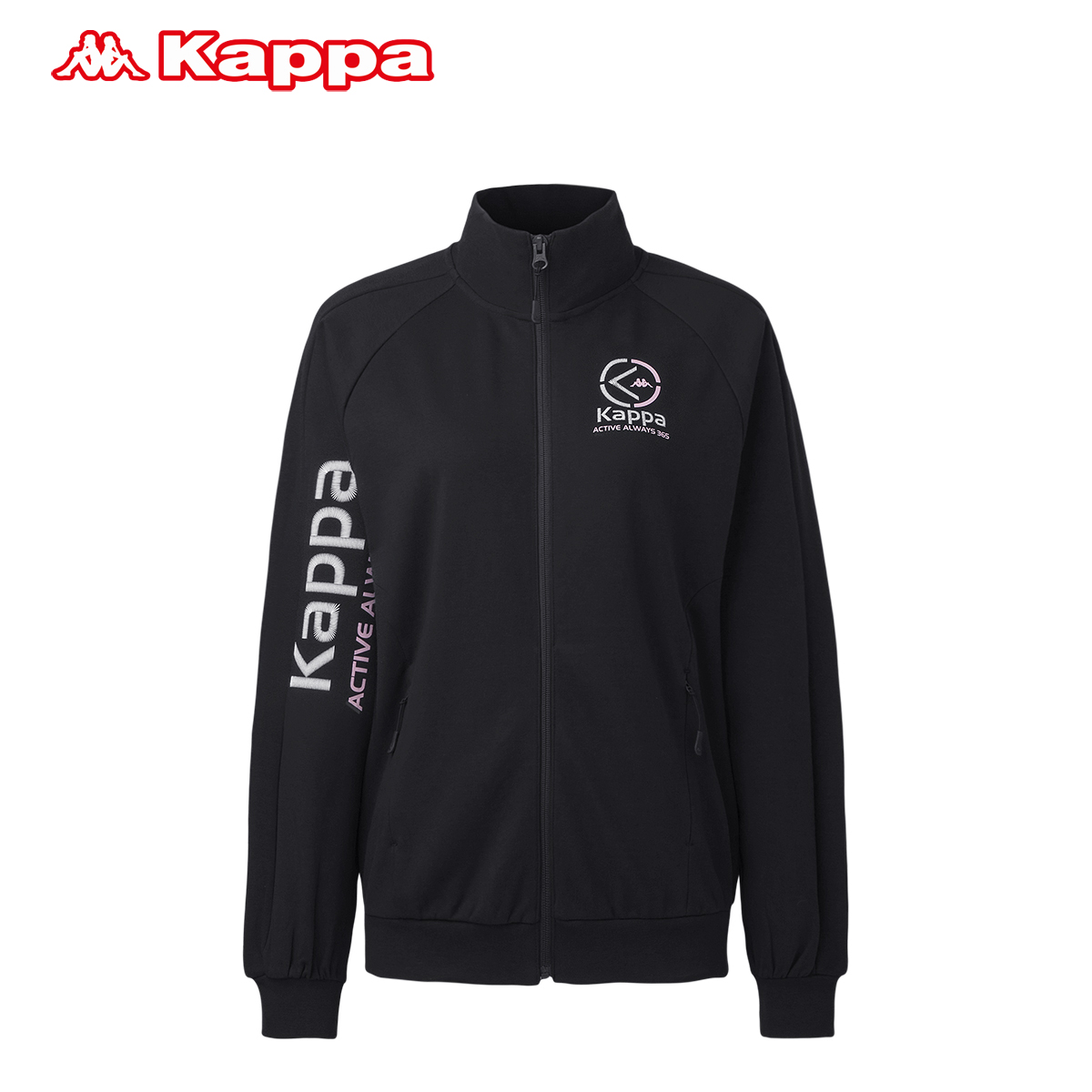 Kappa卡帕女款运动卫衣 针织开衫外套运动上衣2018新款|K0822WK39