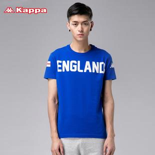 惠kappa卡帕T恤男 短袖运动上衣圆领透气背靠背休闲半袖