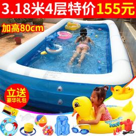 儿童充气游泳池家用成人超大号家庭婴儿游泳桶加厚洗澡池宝宝水池图片