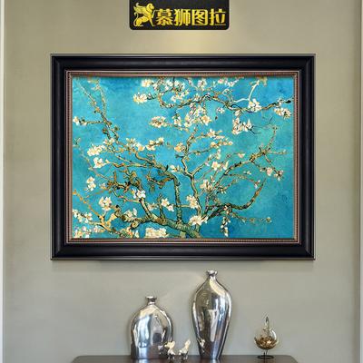 梵高杏花欧式装饰画美式餐厅挂画油画印象派壁画ins古典温馨淡雅特价