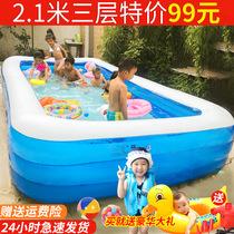 超大号儿童充气游泳池加厚成人水池家庭婴幼儿游泳桶家用小孩泳池