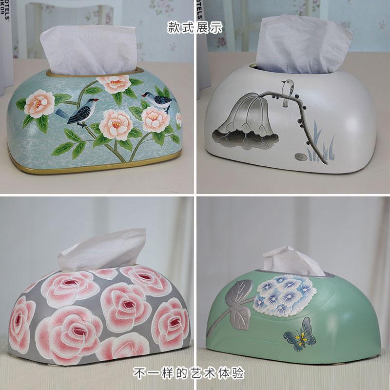 抽纸盒创意欧式陶瓷