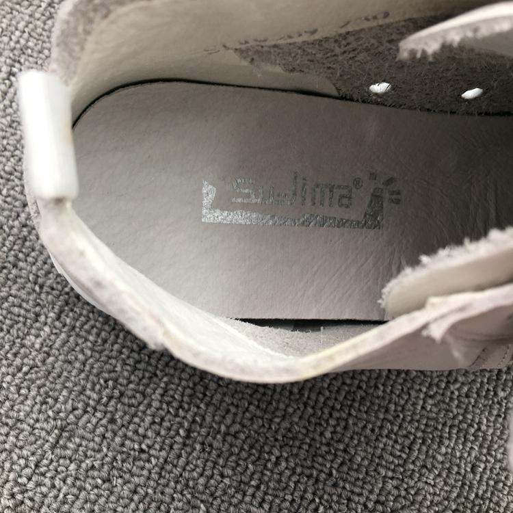 速利玛真皮高帮小白鞋女春季透气系带圆头休闲平底单鞋牛皮板鞋子