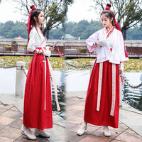 Hanfu female Chinese style improved version of the costumes female elegant and elegant waist waist skirt student ancient style martial arts suit
