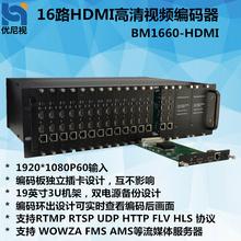 优尼视BM1660HDMI高清视频直播服务器IPTV流媒体服务器信号编码器