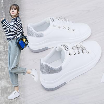 2018春秋季皮面小白鞋女2017新款百搭韩版白鞋chic鞋子女学生板鞋