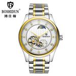 新款博仕顿手表男生全自动机械表男表镂空陀飞轮防水男式正品手表