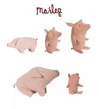 猪枕头 Maileg憨厚大猪小猪安抚玩偶宝宝陪睡娃娃 丹麦正品 现货