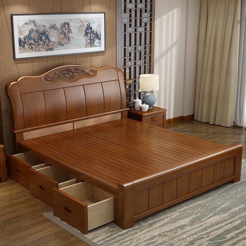 橡胶木 床