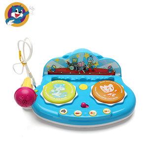 BLUECAT/蓝猫宝宝手拍鼓儿童音乐拍拍鼓婴儿玩具6-12月益智0-1岁