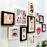 Korean semi-permanent poster eyebrow lip beauty makeup background decorative picture frame tattoo manicure creative combination photo wall