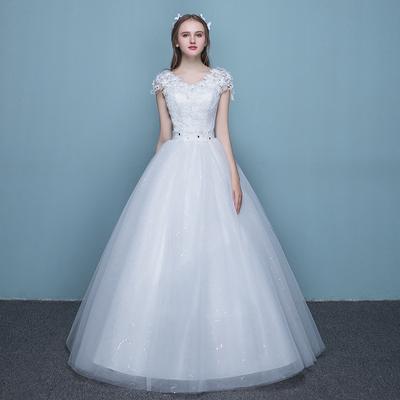 双肩公主婚纱
