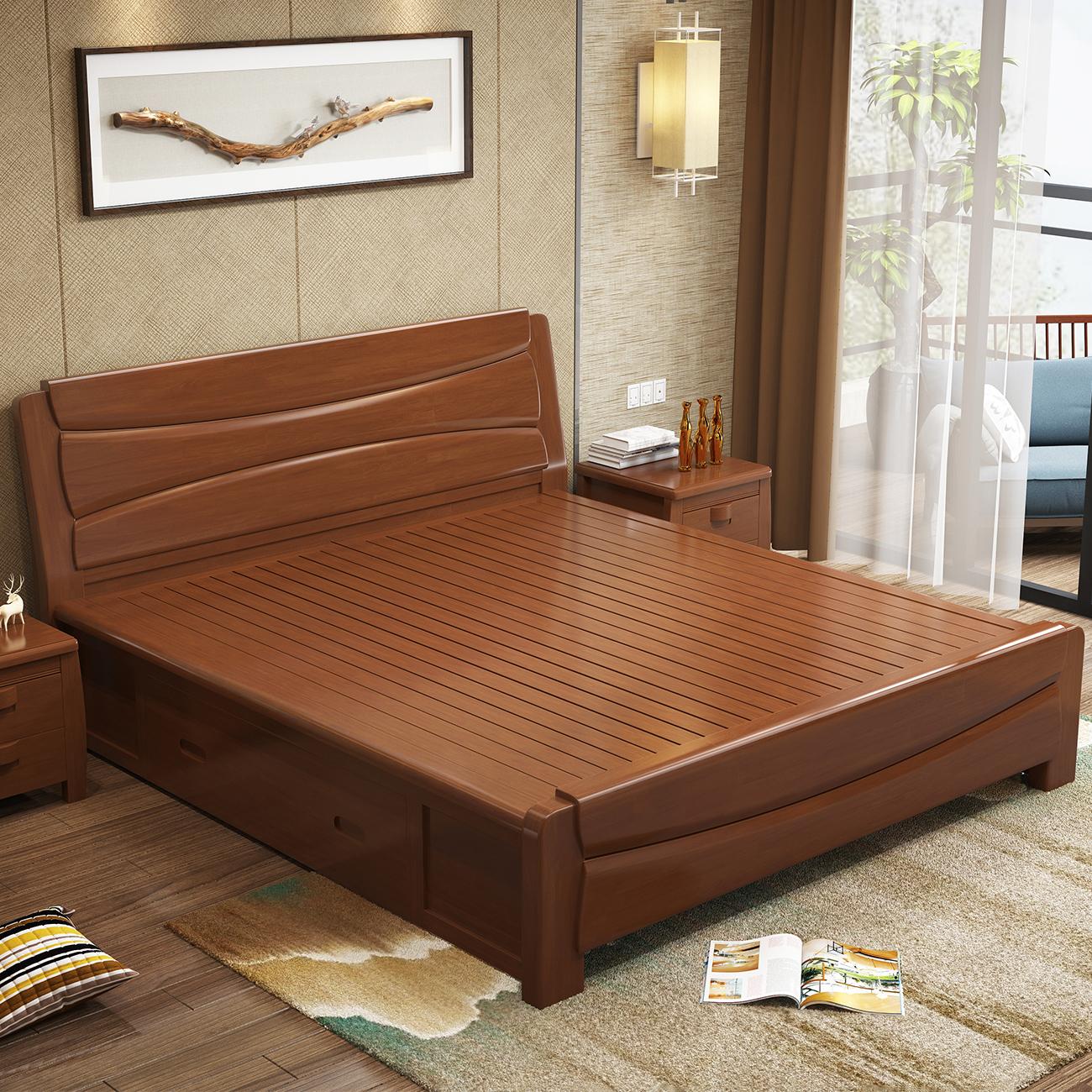 新中式床 1.8床中式家具