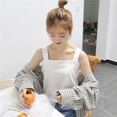 韩版学生ulzzang外穿chic上衣无袖小清新打底吊带内搭小背心女夏