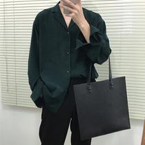 春季男士长袖衬衫韩版修身黑色商务休闲职业正装衬衣青年内搭寸衫
