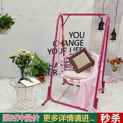 摇椅秋千吊篮吊椅阳台花园室内公主装饰成人单人吊床摇椅编织秋千