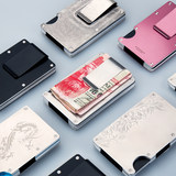 MODERN Germany demagnetizing-proof metal brush theft wallet card package Card sets NFC RFID cartridge clip thin M