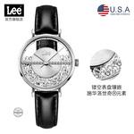 美国潮牌Lee手表时尚施华洛世奇®元素女士腕表时尚镂空石英表F118