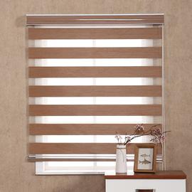卷帘窗帘全遮光百叶窗帘免打孔升降遮阳客厅卧室卫生间手拉式电动图片