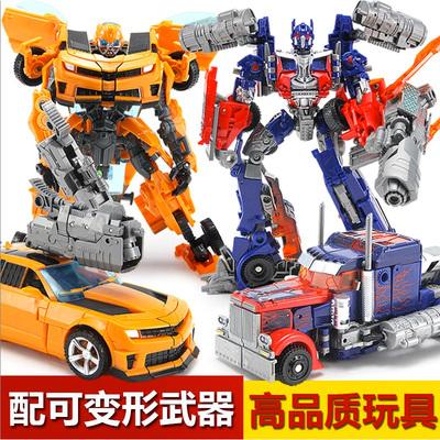 德馨手动变形玩具金刚4 擎天大黄蜂变身汽车机器人模型正版儿童