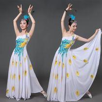 孔雀舞演出服女2017春季新款傣族成人表演服少数民族舞蹈服装修身