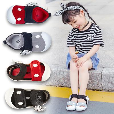 春秋宝宝鞋子男0-1一3岁2女童防滑软底夏婴儿凉鞋包头公主学步鞋