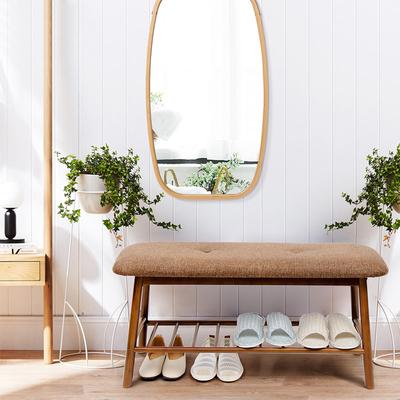 【竹子做的换鞋凳】进门换鞋凳鞋柜简约现代沙发凳门口实木收纳凳谁买过的说说