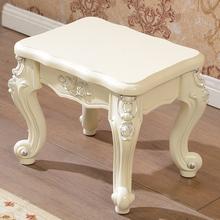 简约欧式换鞋凳矮凳法式茶几凳沙发凳儿童创意小凳子美式方板凳