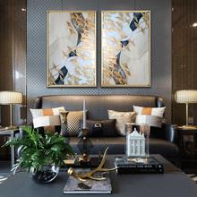 玄关装饰画现代简约抽象艺术画客厅卧室挂画立体实物画样板房壁画