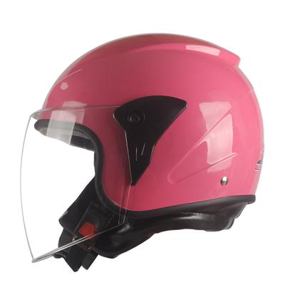 摩托车头盔男女通用 轻便电动机车帽半覆式冬季保暖四季防雾防雨