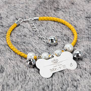 Dog brand identity card custom dog necklace cat bell collar pet brand name cat brand lettering small dog jewelry