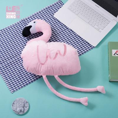 少女火烈鸟抱枕USB热水袋 防爆卡通捂肚子暖宫暖宝宝可拆洗暖手宝