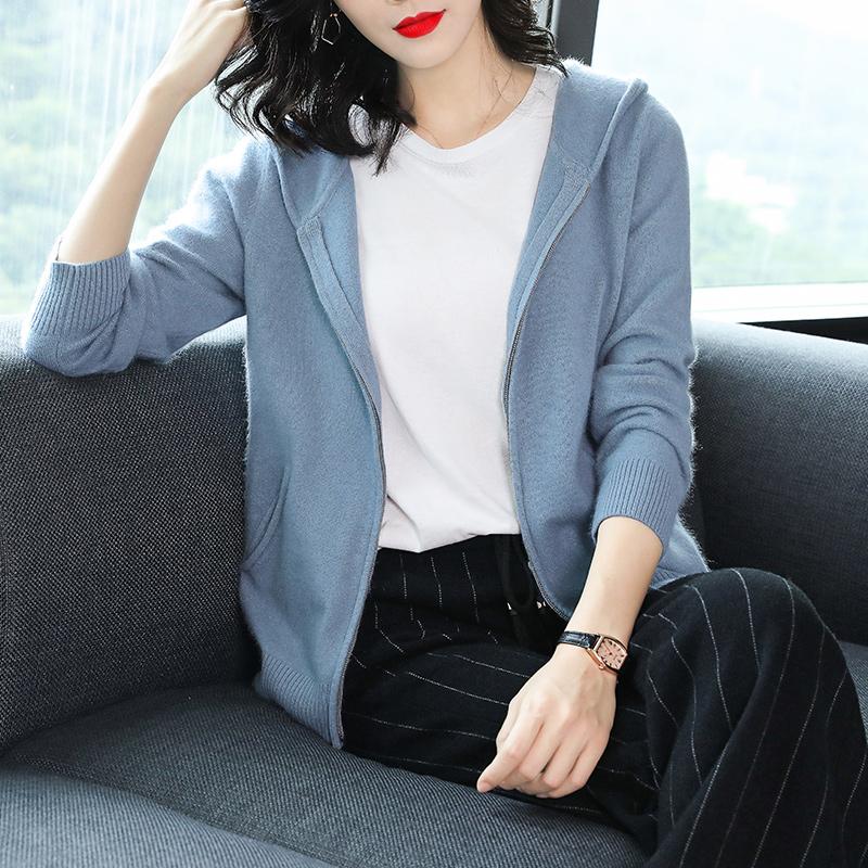 韩版女开羊绒衫
