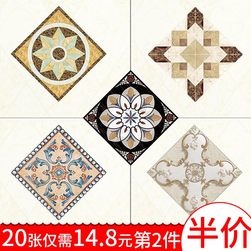 地面卧室地板砖装饰地板贴纸防.