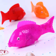 Music electric toy fish will run simulation light swing fish night market small gifts children's stalls ring supply