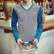 Spring and Autumn 2019 New Long Sleeve T-shirt for Men Students Korean Edition Men's Fashion T-shirt for Teenagers