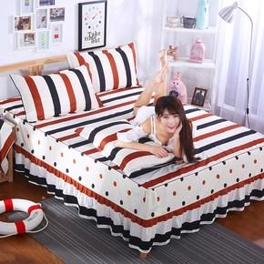 韩版床裙式四件套全棉被套双人春1.5m1.8X2.0m2X2.2米床罩款