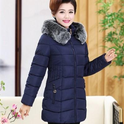 中老年女装棉衣冬装新款中长款羽绒棉袄中年人妈妈装加厚棉服外套
