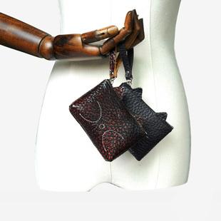 女士零钱包多功能卡包短款零钱包迷你小包头层牛皮钥匙包化妆包