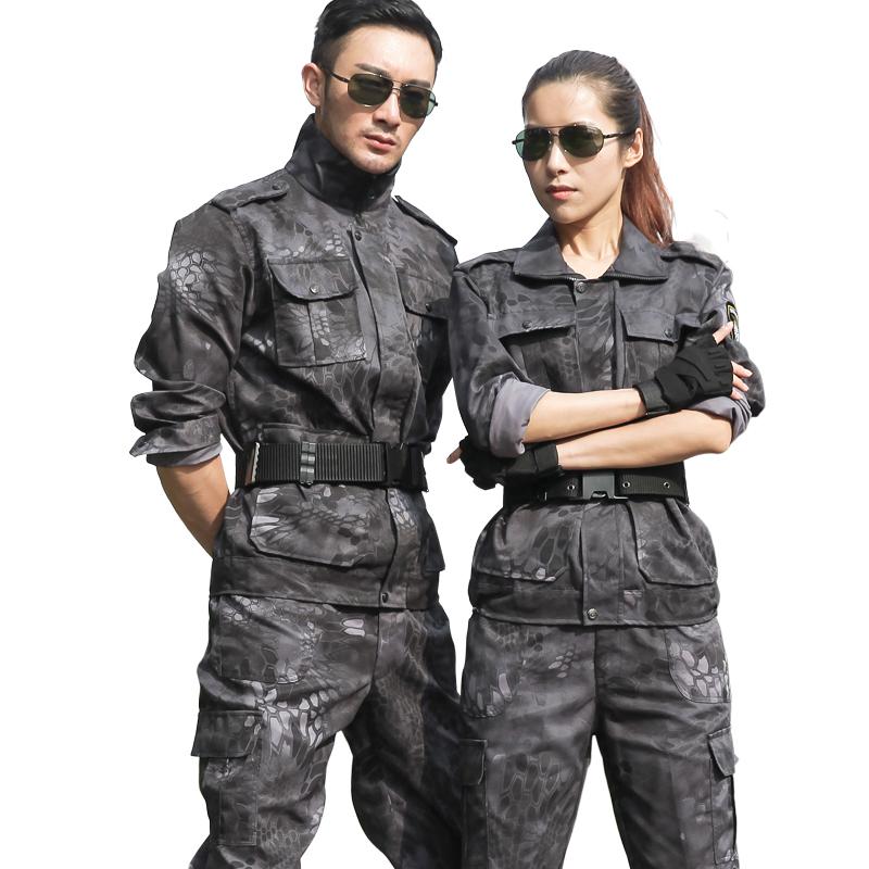 荒漠丛林迷彩服套装男特种兵学生薄款耐磨军训服军装女劳保工作服