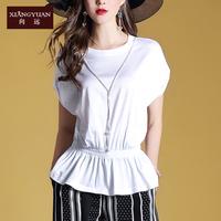 向远2018夏季新款时尚百搭衬衫女上衣纯白色气质显瘦淑女10055A