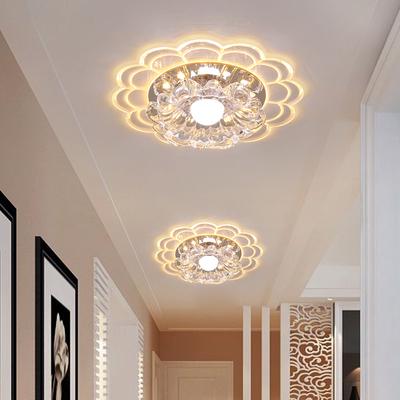 客厅led射灯水晶过道灯走廊灯玄关灯嵌入式个性入户走道阳台筒灯
