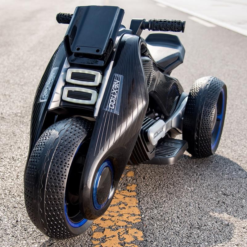 男女儿童电动摩托车宝宝三轮车男孩女孩1-3-6岁4-5小孩玩具可坐人