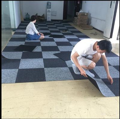 办公室地毯拼接方块卧室满铺房间可爱家用客厅商用写字楼工程地毯