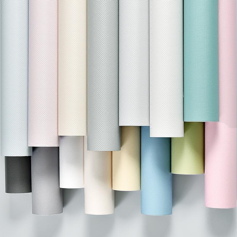 墙纸自粘卧室温馨欧式防水加厚壁纸10米60cm宽纯色背景墙宿舍装饰