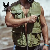 MAXATTACK Tide brand multi-pocket vest tooling vest male military tactical outdoor sports wind sleeveless waistcoat