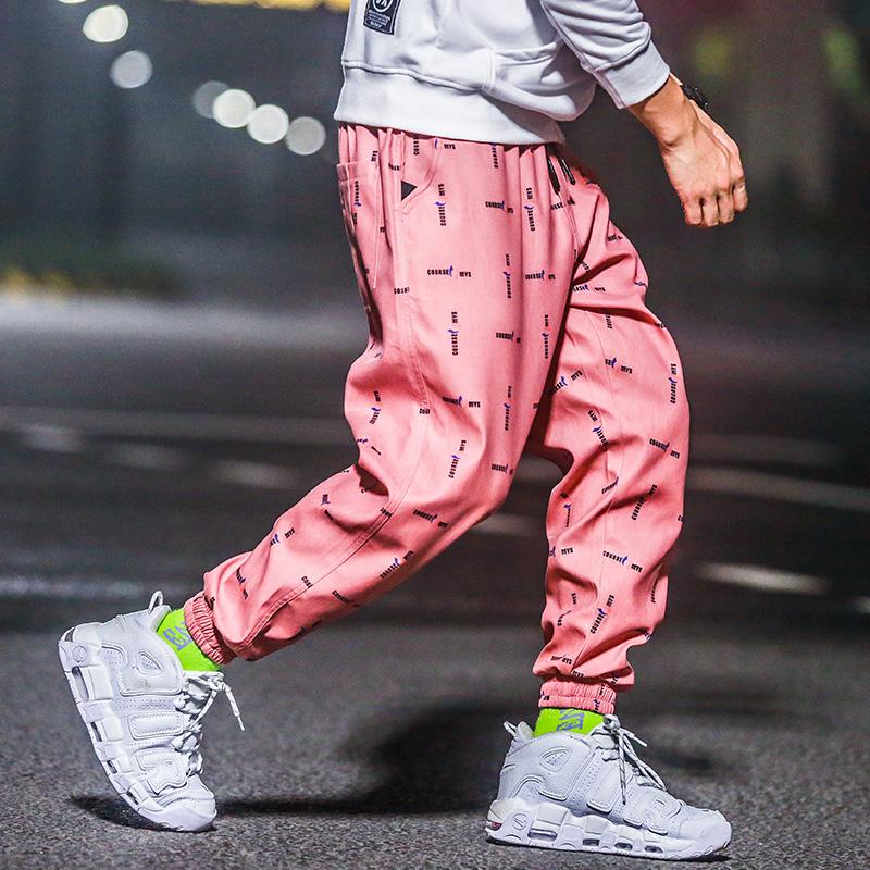 欧美灰色小脚裤