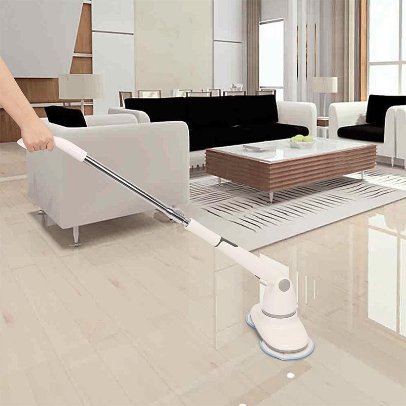 美国EVERTOP无线电动拖把家用洗车客厅浴室可调节手柄擦地打蜡机