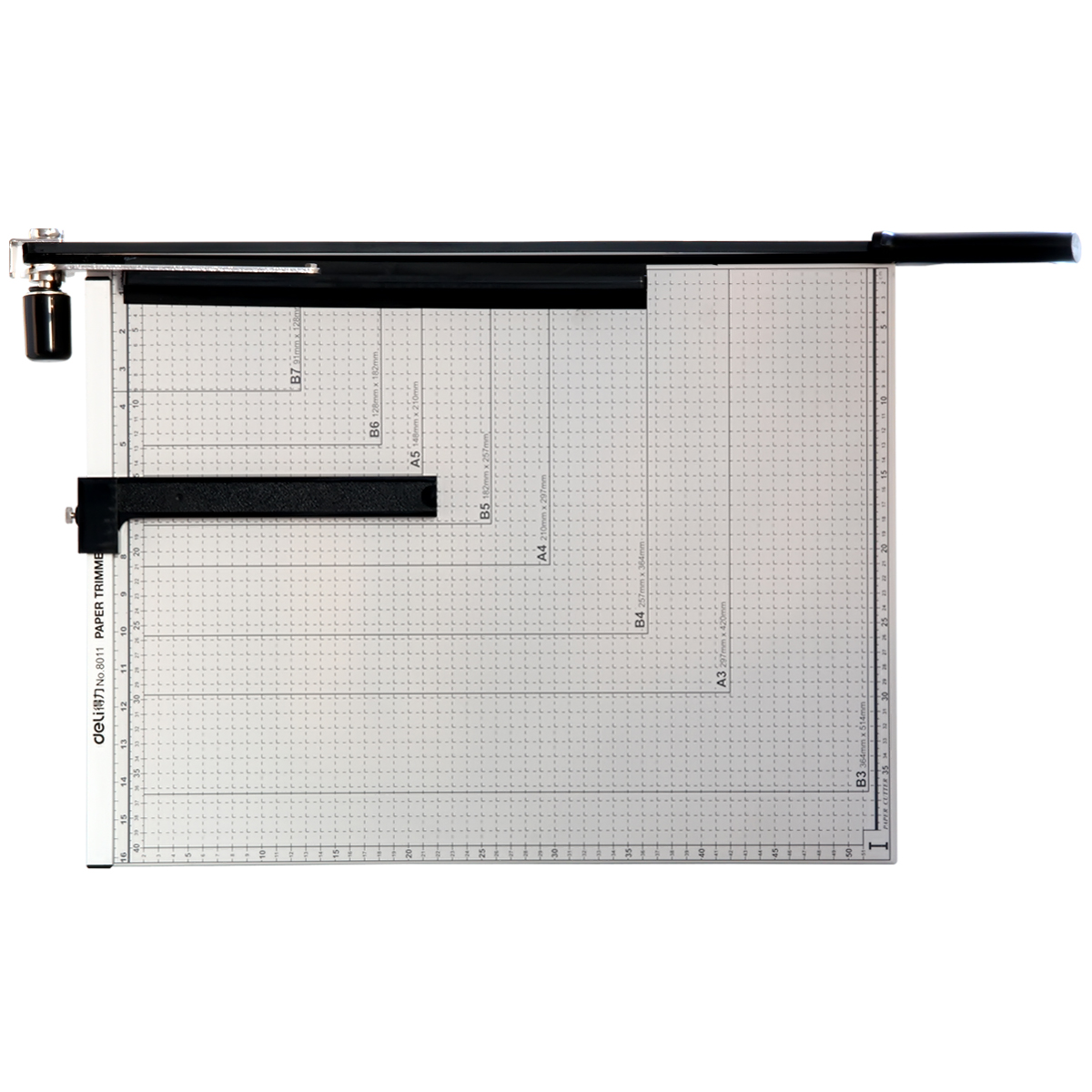得力8011手动切纸机大号裁纸刀B3切纸机照片切割机裁纸器相片裁刀